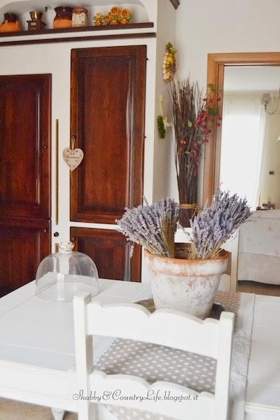 Un pò di Umbria-Provenza nella testa.. Un centrotavola non convenzionale.- shabby&Countrylife.blogspot.it