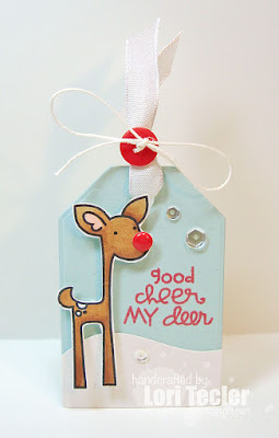 Good Cheer My Deer tag-designed by Lori Tecler/Inking Aloud-stamps and dies from Paper Smooches