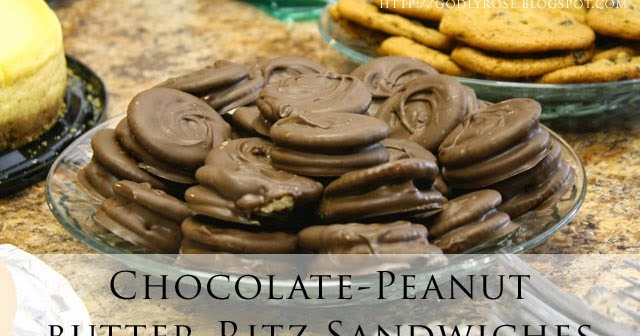 The Joy of Homemaking: Chocolate- Peanut Butter- Ritz Sandwiches