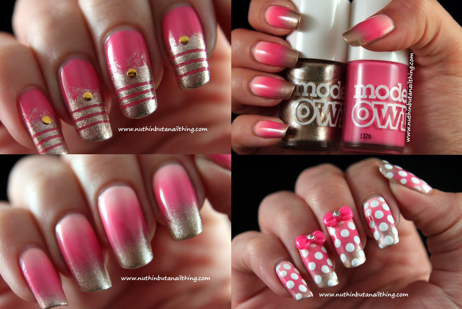 nuthin\' but a nail thing: Nail art with Models Own Pink Blush and ...