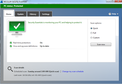 MSE antivirus windows 8