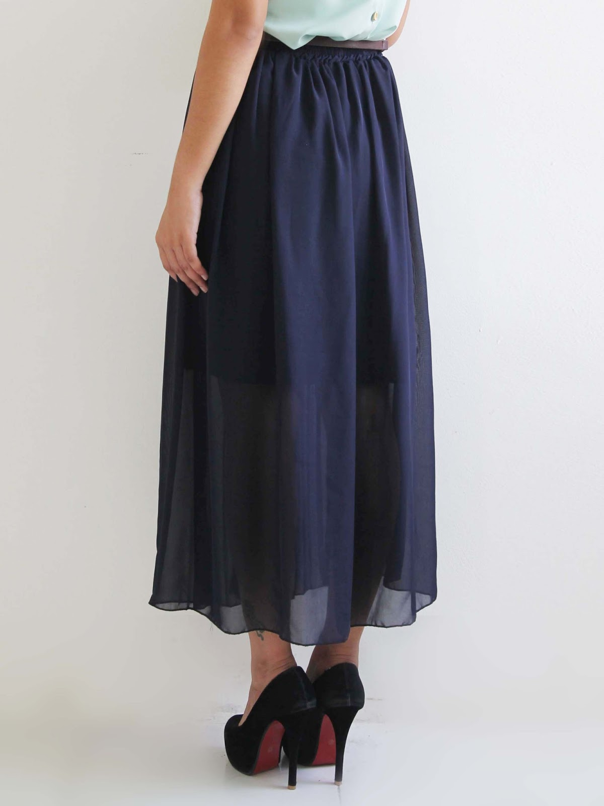 mango orangie zara inspired pleated maxi skirt