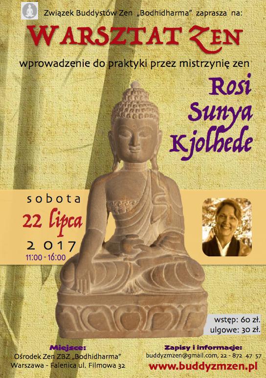 Warsztat zen z Rosi Sunyą