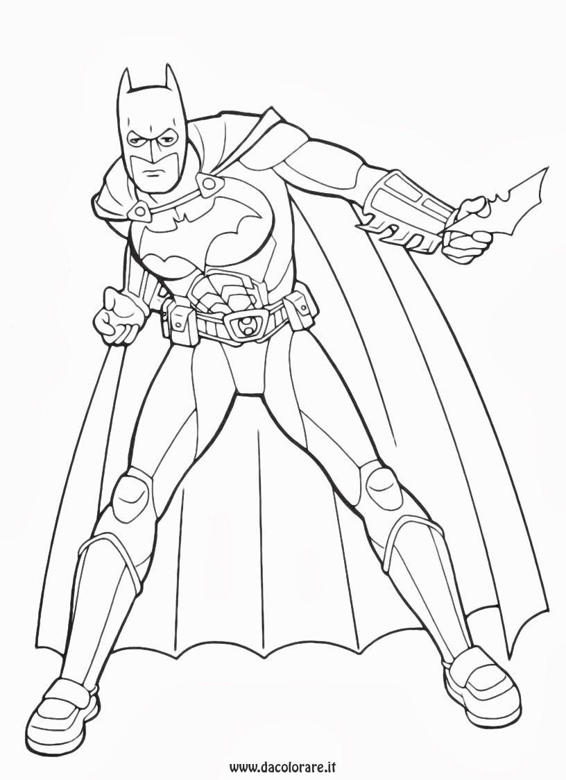Batman Disegni Da Colorare