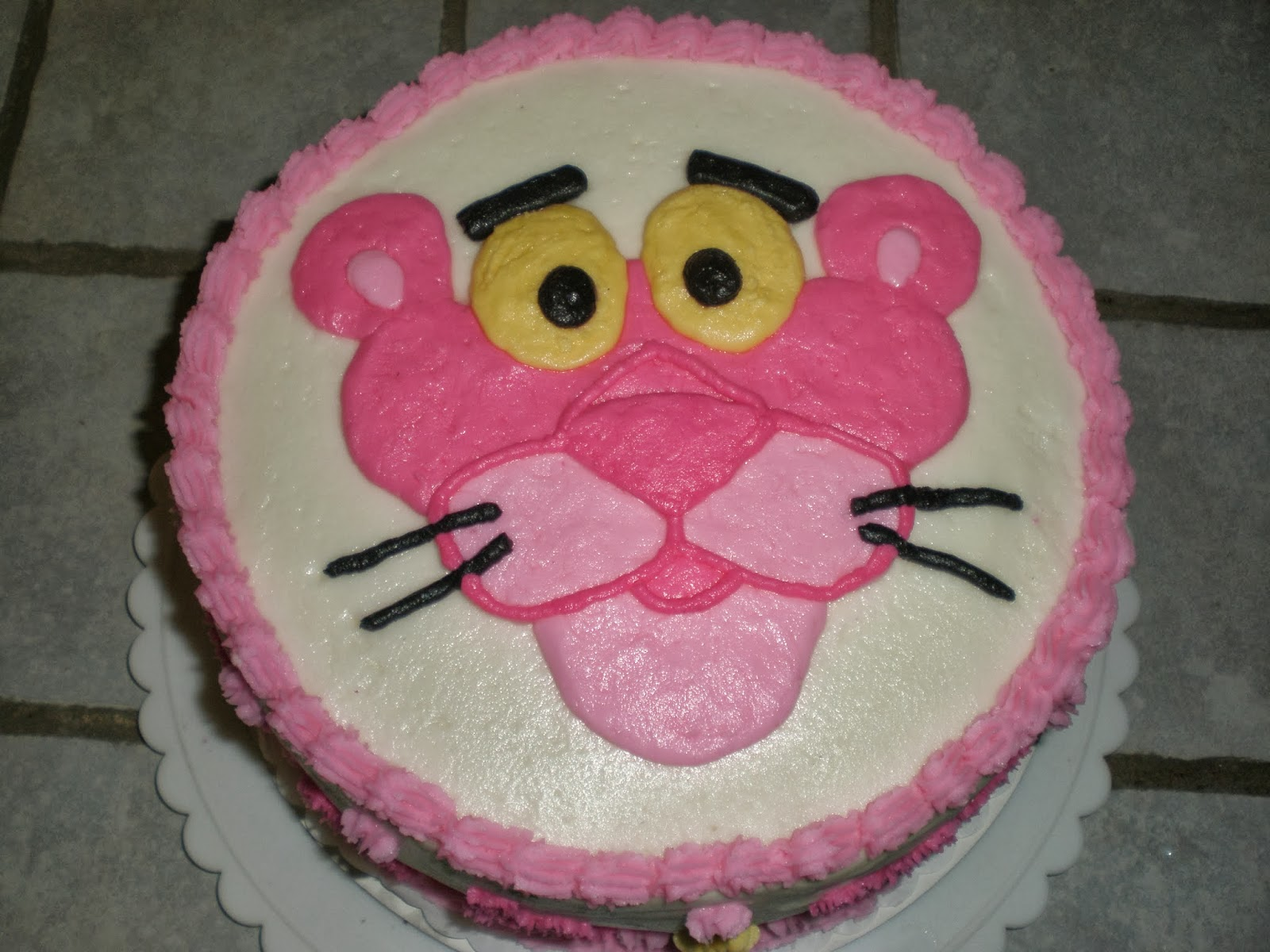 Cakes by Mindy: Pink Panther Cake 9