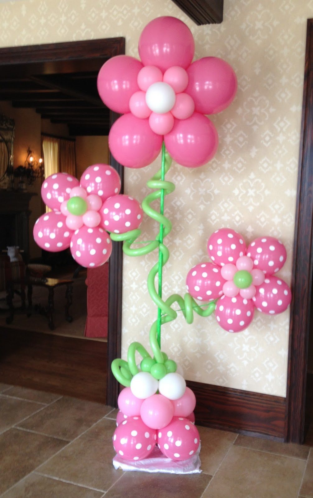 Balloon Flower Wall Decoration : Party people event decorating company june