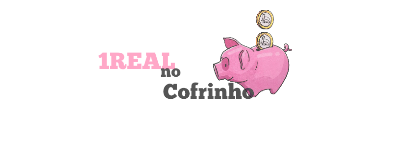 1real no cofrinho
