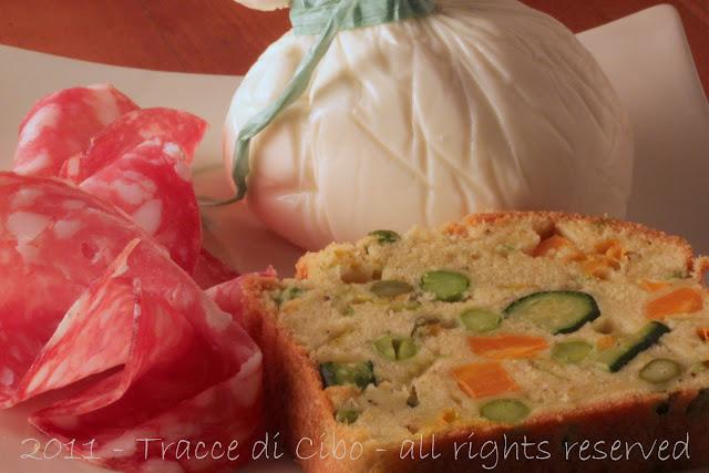 torta salata, plumcake salato, plum cake salato alle verdure
