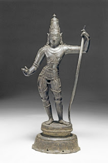 Ramachandra, the gentle Rama, seventh avatar of Vishnu. Copper statue from south India, twelfth century