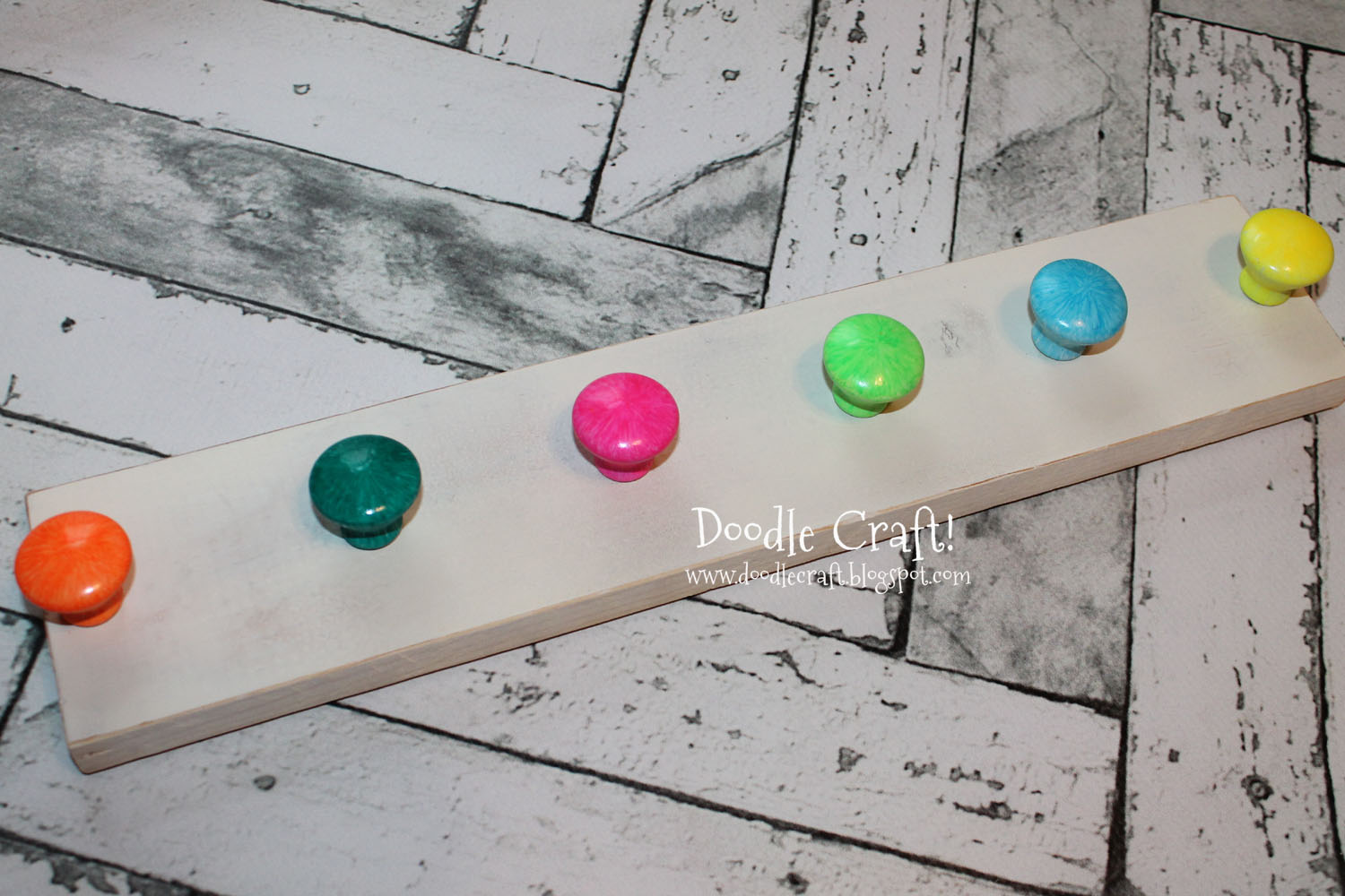 Doodlecraft Upcycled Knob Hanging Coat Rack Or Jewelry