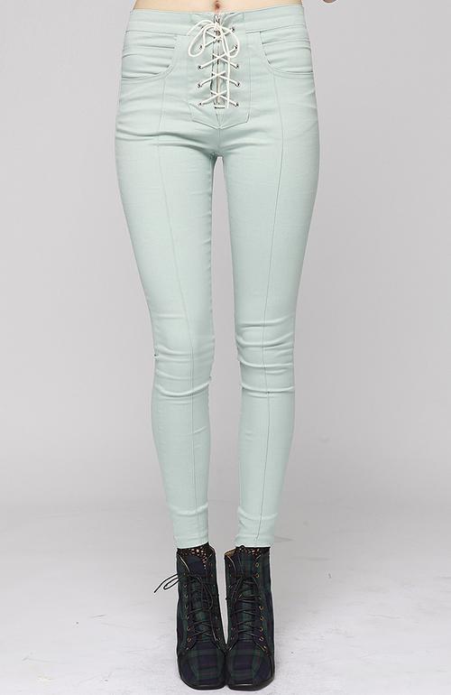Pastel High Waist Skinny Pants