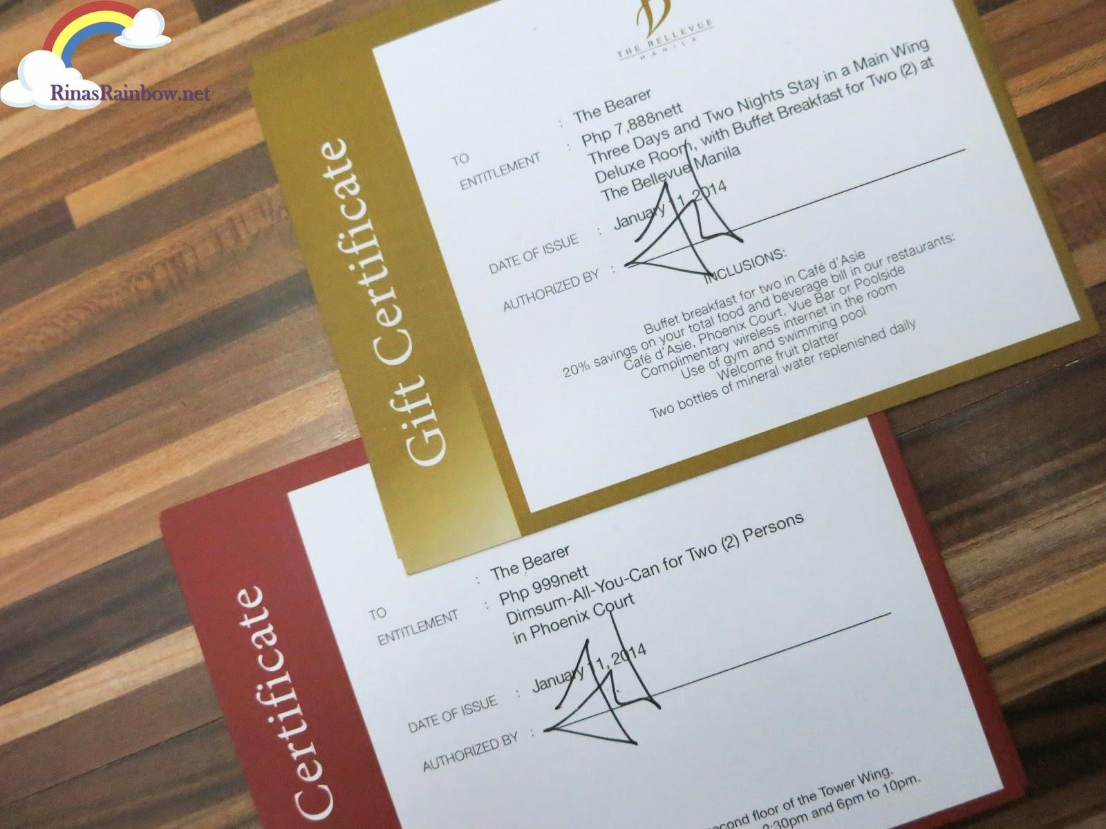 bellevue hotel manila gift certificate big sale