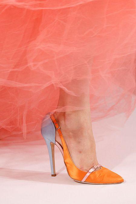 runway details: orange by Oscar de la Renta S/S 2014
