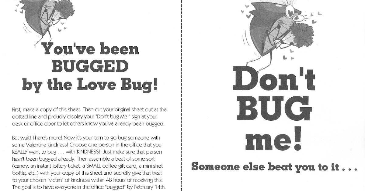 Jen's Happy Place: You've Been BUGGED!! ~ Valentine Office ...