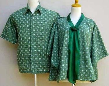 contoh desain batik baju untuk orang hamil dan gemuk