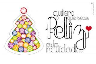 Imagen con frase: quiero que seas feliz esta navidad..