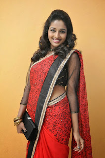 Actress Amitha Rao Pictures in Saree at Chandamama Kathalu Movie Press Meet 0019