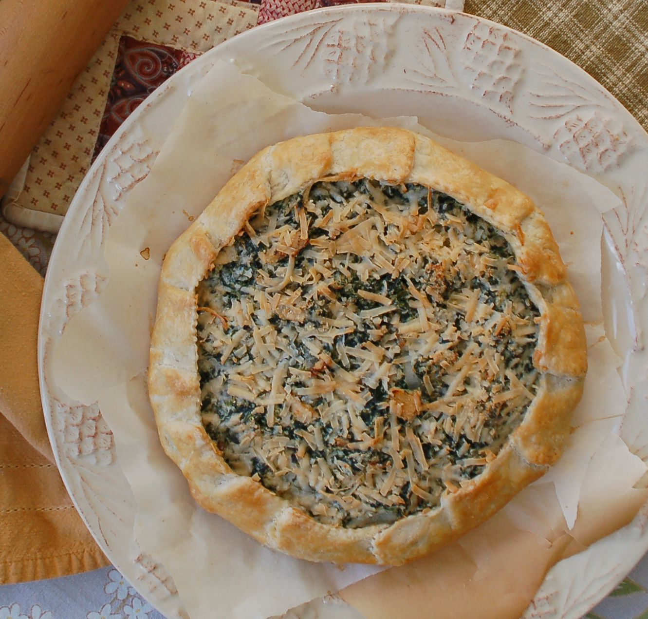The Spice Garden: Rustic Turkey and Spinach Tart