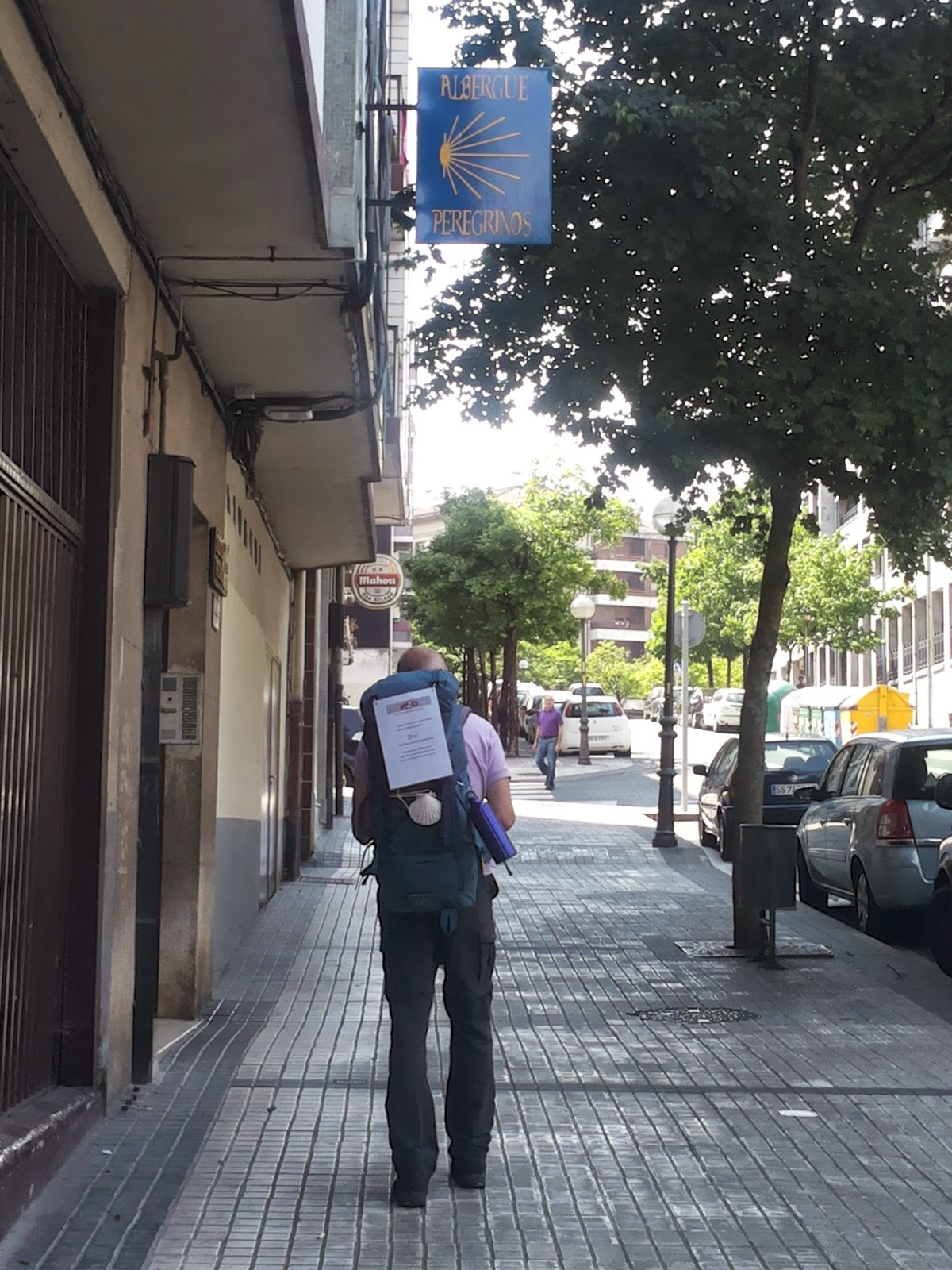 Voettocht van irún naar santiago de compostela in spanje
