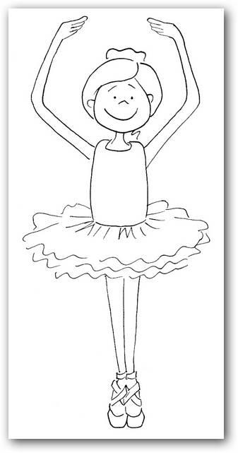 Bailarinas para colorear | Dibujos para Colorear