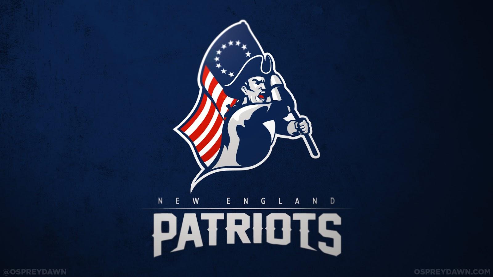 Ne Patriots Gronkowski >> Max O'Brien's NFL Logo Redesigns | Graphic Design Blog