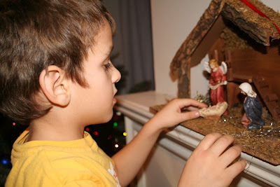 Our Boy with Nativity Scene :: All Pretty Things