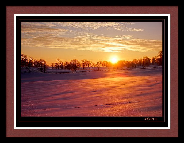 Kentucky Winter Sunrise - On Fine Art America