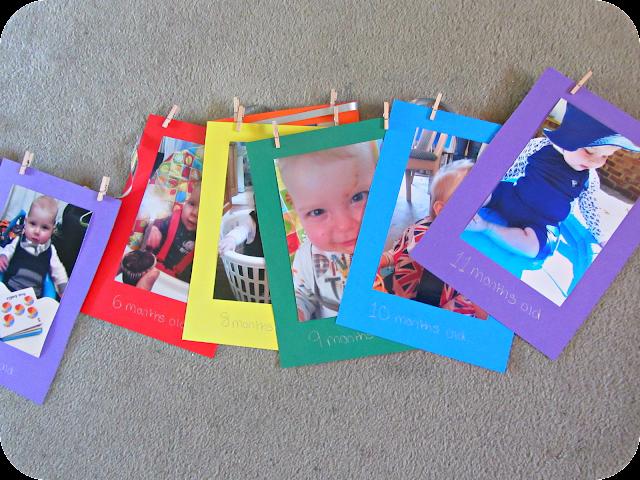 first birthday bunting, rainbow birthday party, photo bunting
