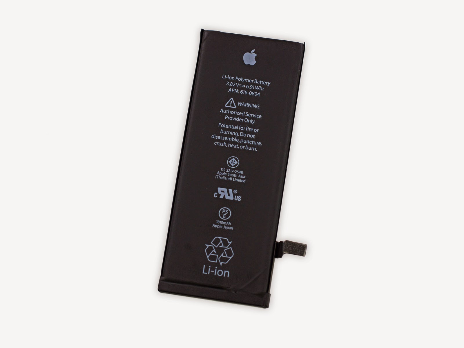 lithium ion battery in iPhone 6