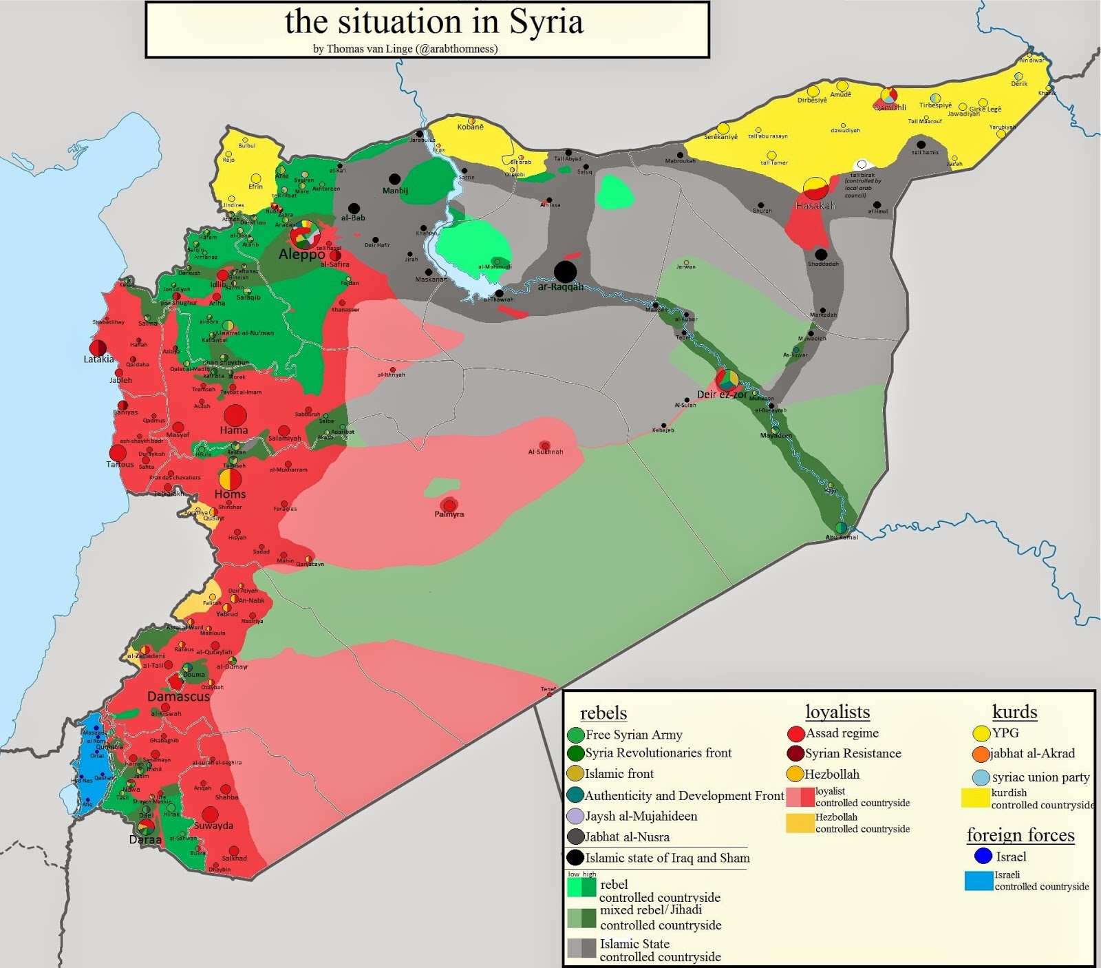 peta pertempuran suriah