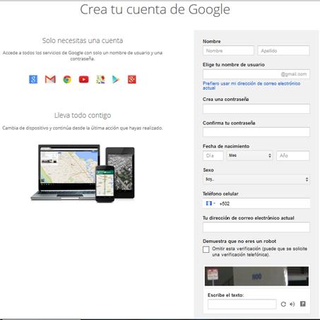 abrir cuenta gmail