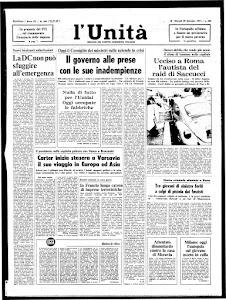 UNITA' - 29 DICEMBRE 1977