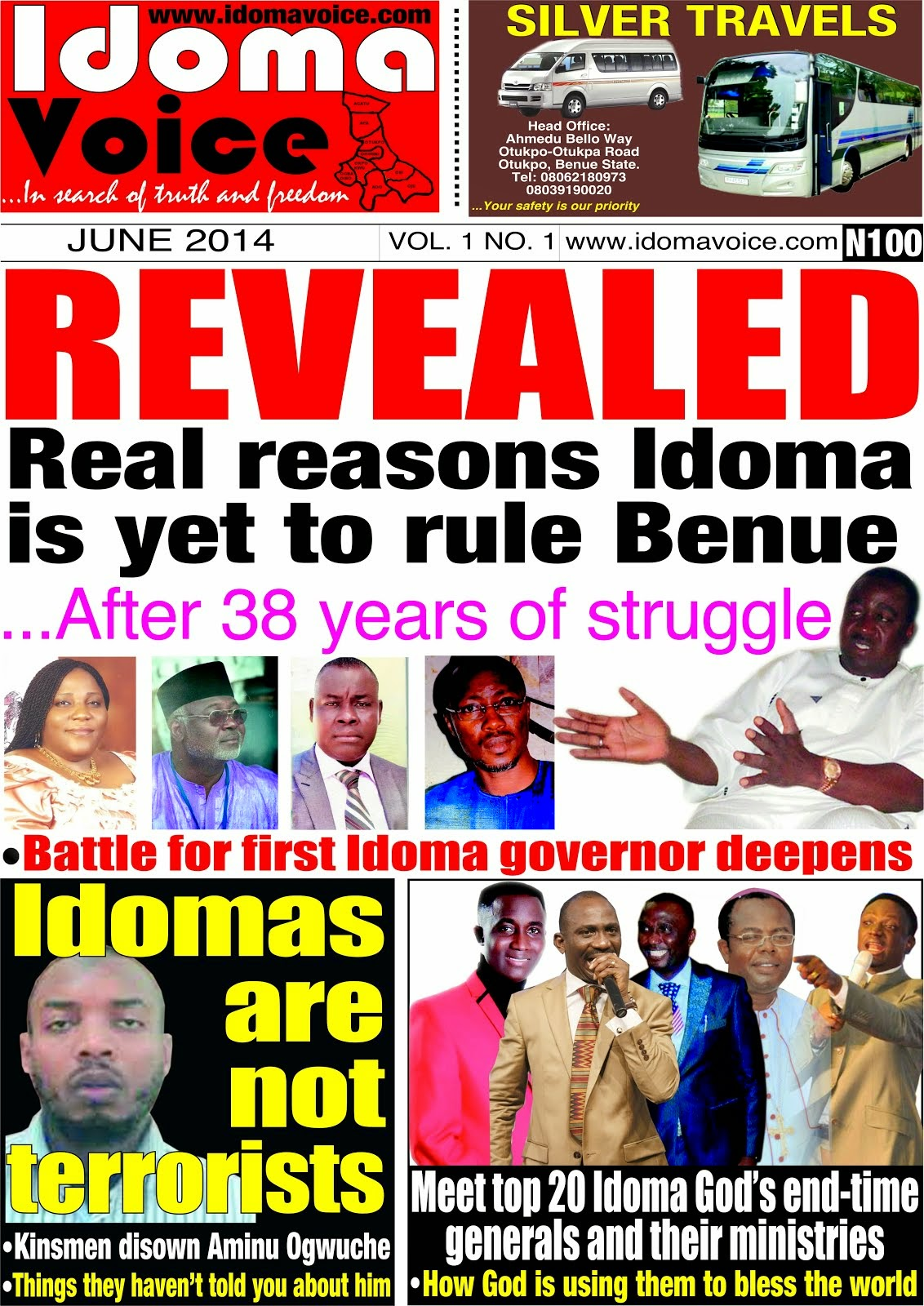 IDOMA VOICE NEWSPAPER DEBUTS