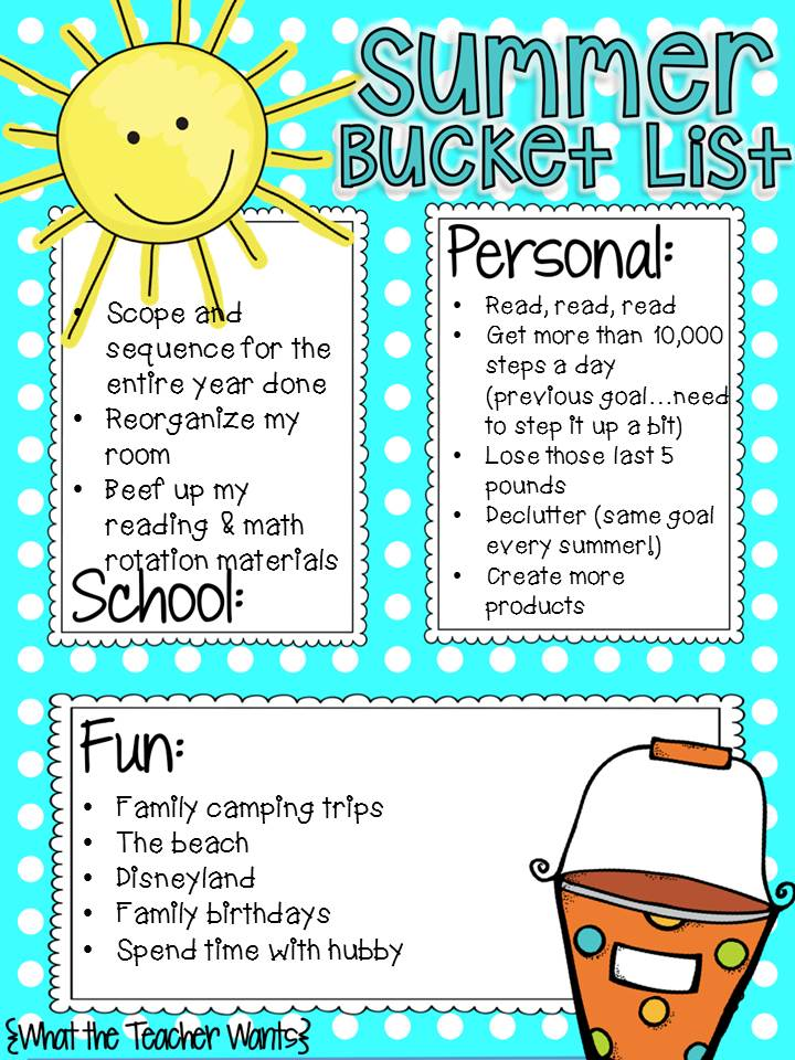 Teacher Gone Digital Summer Bucket List