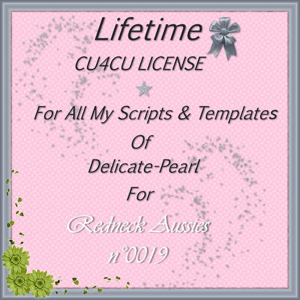 DELICATE PEARL LIFETIME CU4CU SCRIPTS & TEMPLATES