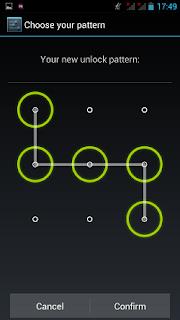 pola pattern pengunci layar di android