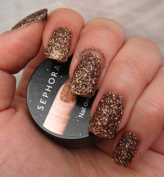 sephora nail designer bronze glitter