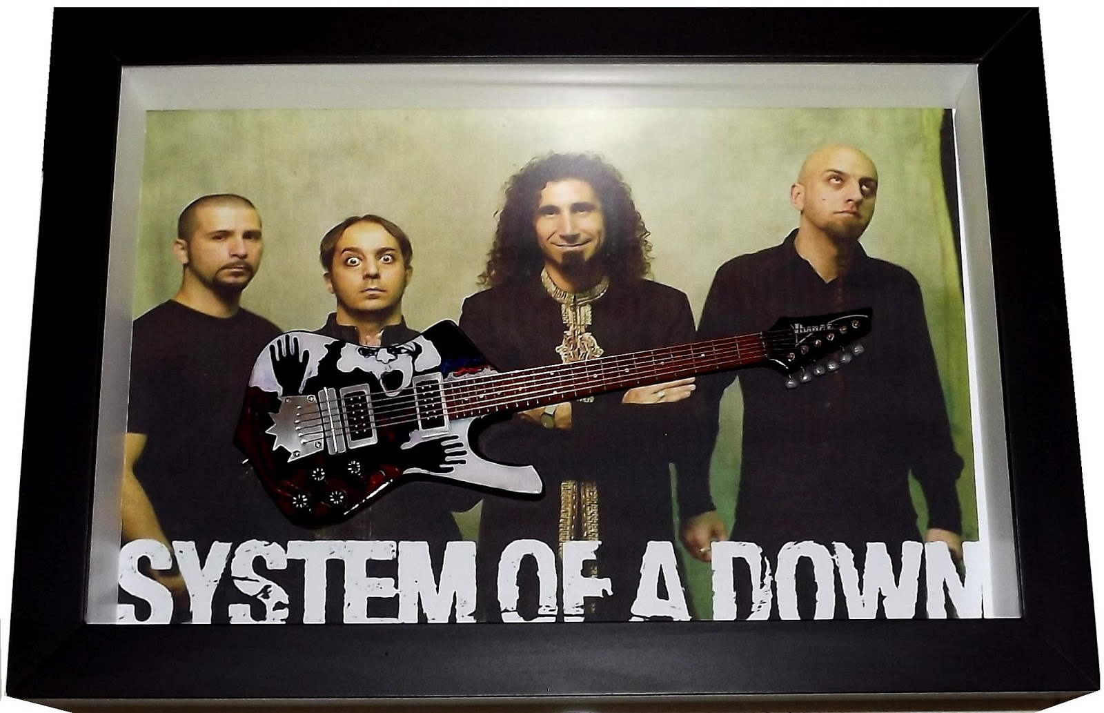 Systen of a Down - Quadro Guitarra Ibanez Daron Malakian Ice Man Signature