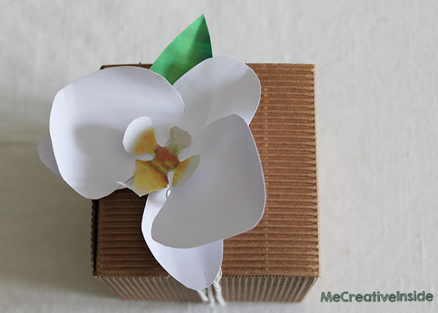 tutorial diy orchidea di carta me creative inside tinta corda