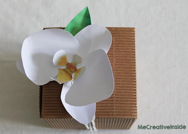 tutorial diy orchidea di carta me creative inside tinta corda