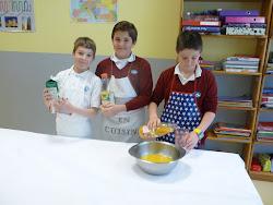 Cocina y Matemáticas en 5º