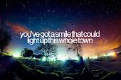 Tú iluminas mi mundo.