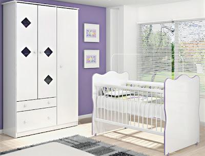 quarto para bebê, menino, brnco e roxo