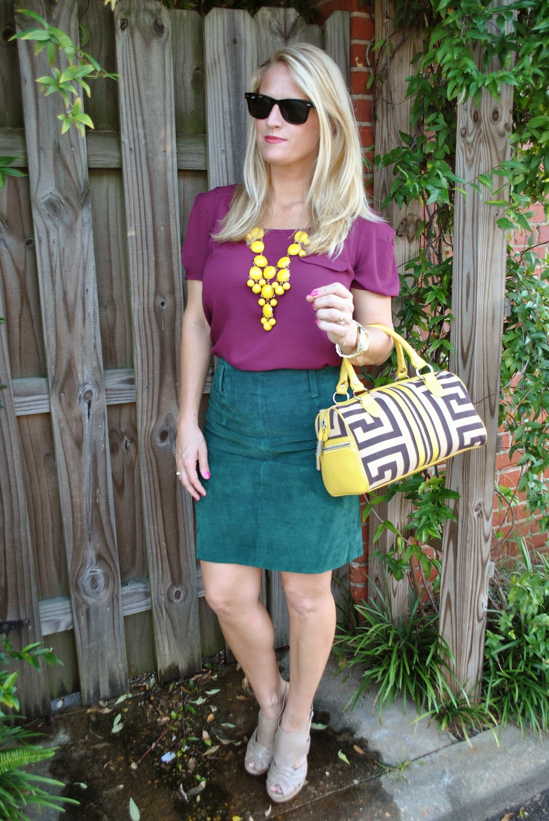 faux leather skirt style jewel tones for fall