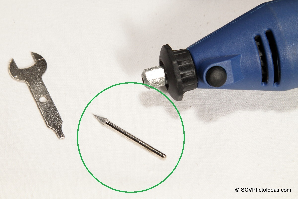 High Speed Rotary tool w/ fine conical bit & spanner