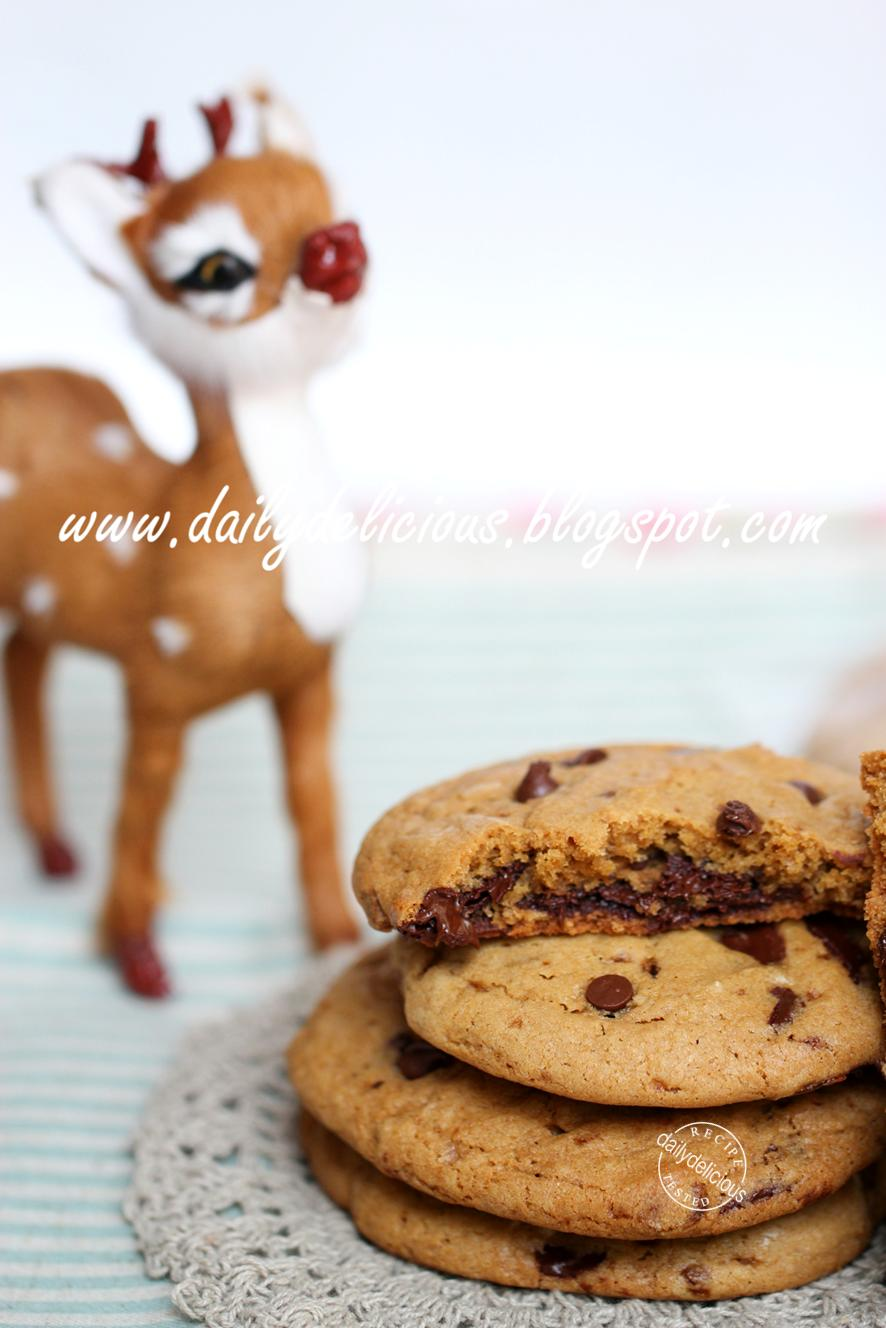 Thick Soft Chewy Chocolate Chip Cookies