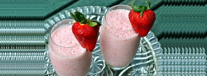 Couverture facebook jus de fraise