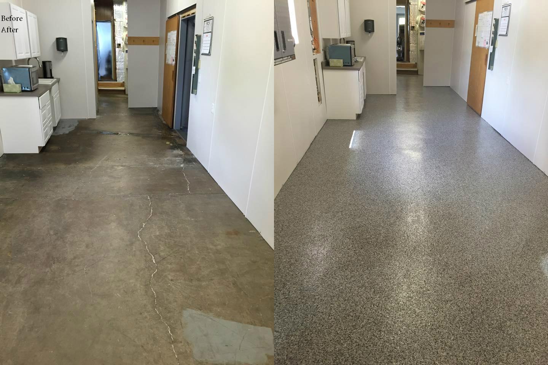 Rhino flooring of st marys concrete crack repair services for Concrete flooring service