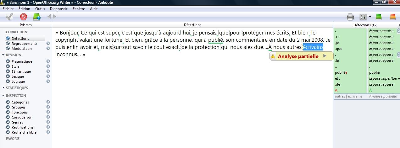 Ludovic mir correction de manuscrit le correcticiel 3 - Correcteur orthographique open office ...