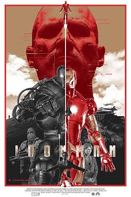 Iron Man Variant Screen Print by Grzegorz Domaradzki